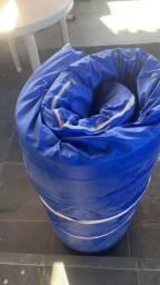 Colchão casca de ovo anti escara com capa impermeável para proteção
