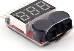 Teste Alarme De Baixa Voltage De Batteria Para Drone Aeromodelismo Baterias Lipo