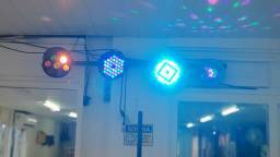Conjunto de iluminação para eventos  com suporte