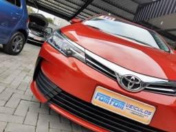 Toyota Corolla 1.8 GLI 16V Flex 4p Automático vermelho