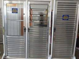 Portas de alumínio brilhante 2.10x80cm