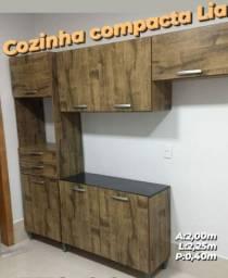 Armário de Cozinha com balcão (cozinha compacta lia) entrego e monto