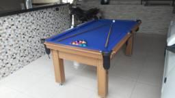 Mesa Tentação Redinha Cor Cerejeira Tecido Azul Mod. WADP8339