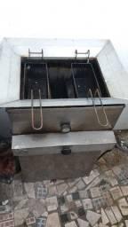 Fritadeira água e óleo a gás muito boa tel: * não suja muito o óleo