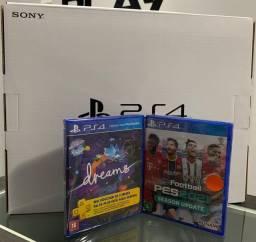 Playstation 4 slim 1TB ( Novo Lacrado ) com dois jogos + 1 Ano de Garantia