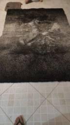 Vendo tapete 2,00 x 1,40 cinza/preto degradê