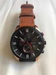 Relógio Curren pulseira de couro