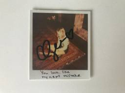 Card Taylor Swift Autografado