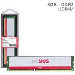 Memória Pcyes Udimm 8GB Ddr3 1333MHZ Nova
