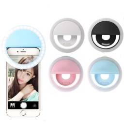 Ring light clip - flash para selfie de celular
