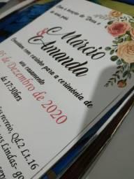 Convites em papel fotográfico