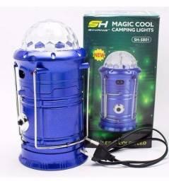 Lanterna Luminária 3em1 Magic Cool Led Giratória Cor Lampião