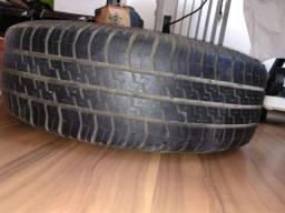 Troco umaRoda com pneu 175-70 aro 13 por estepe fino temporário furação 4 x 100