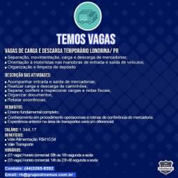 Vagas De Carga E Descarga Temporário Londrina/ PR