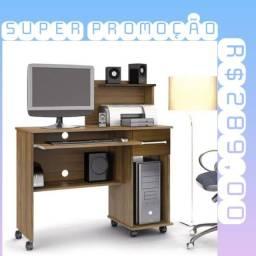 Mesa de escritório com 1 gaveta e rodinhas