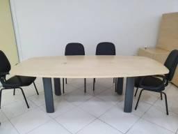 Mesa de Reuniões + 4 cadeiras + divisória - Lindas peças!