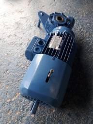Motor elétrico trifásico motofreio 1 cv redução 1/14.