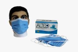 Máscara Descartável Cirúrgica Tripla Camada cx. 50 unidades R$39,90