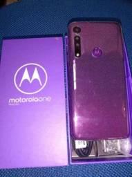 Celular Motorola One Macro Roxo