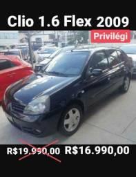 Clio 1.6 Flex 2009 Completo
