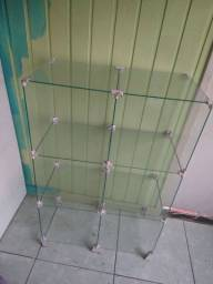 Gôndola de vidro A 97cm L 63cm P 32cm
