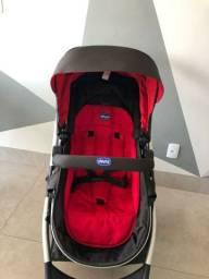 Carrinho de Bebê Chicco urban + Color Pack vermelho + Bebê conforto
