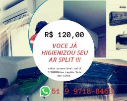 Higienização ar split