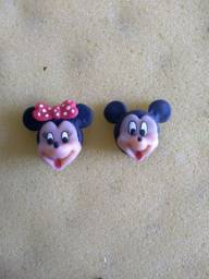 Aplique Minnie e Mickey Biscuit