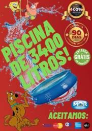 Final de Semana Começa com Promoção!! Piscina de 3400 Litros! (MOR)
