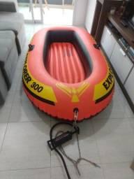 Bote Inflável Intex Explorer 300 Até 186kg + Par Remos Bomba