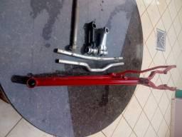 Quadro Alfameq Tirreno 17 e peças de bicicleta