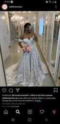 "Vendo vestido de noiva, Novo, modelo "" Patrícia Off White C/Blush Rendado"""