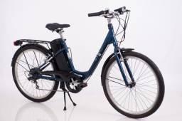 Bicicleta Elétrica Sense Start Azul Aro 26 24v 250w 12ah