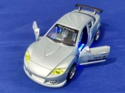 Miniatura Mazda RX-8 Tunado Irado dtc Raridade Acende Luz/ Som Motor