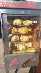 Assadeira de frango a gás cabe até 32 frangos