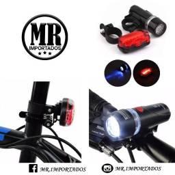 Kit Ciclismo  Cadeado + Led para Roda + luz traseira e lanterna de segurança entregamos
