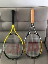 Raquetes de tênis Wilson (usadas)