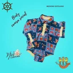 Título do anúncio: Roupa infantil body camisa social
