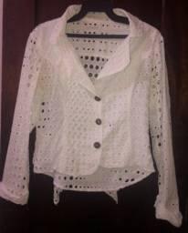 limelight - blazer vazado- branco tamanho p