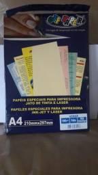 Papel verger  e  papel linho