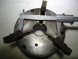 placa de torno centrex com tres castanhas