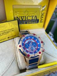 Relógio invicta Bolt capitão América + caixa