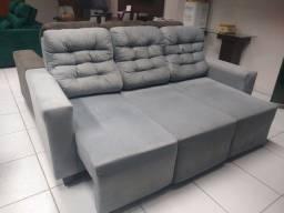 Sofá de 3lu- retrátil e reclinável direto de fábrica promoção 2.100 pix