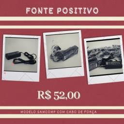 Fonte de notebook Positivo/ Intelbras/Asus /Cce - Nova com Garantia