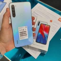 Xiaomi redmi note 8 Branco/Preto - 64gb - 4ram - 1 Ano de garantia.