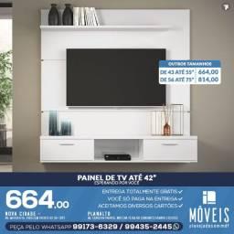 Painel de tv / Painéis de TV planejados 100% em MDF