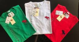 camisetas importadas masculinas 10 pçs