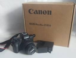 Câmera Canon M50 Lente 15-45 mm EF-M + Tripé + Cartão de Memória 32gb