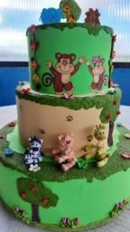 Enfeite de bolo aniversário criança