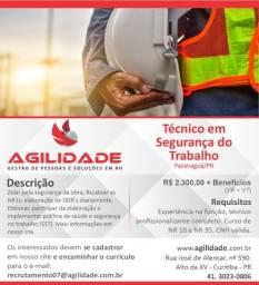 Vaga de emprego Técnico em segurança do trabalho - Paranaguá